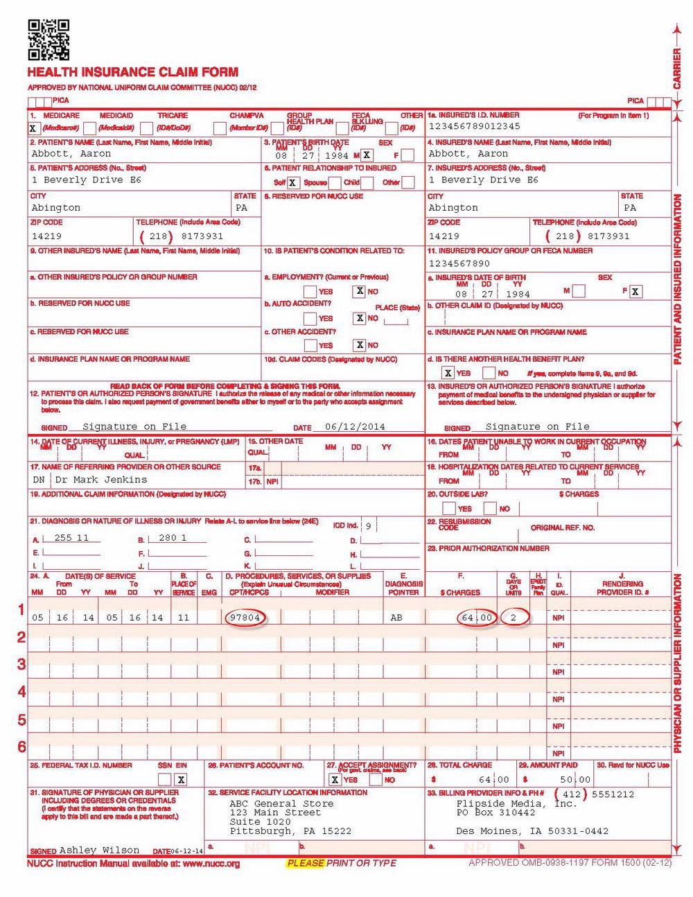 Cms 1500 Form Download