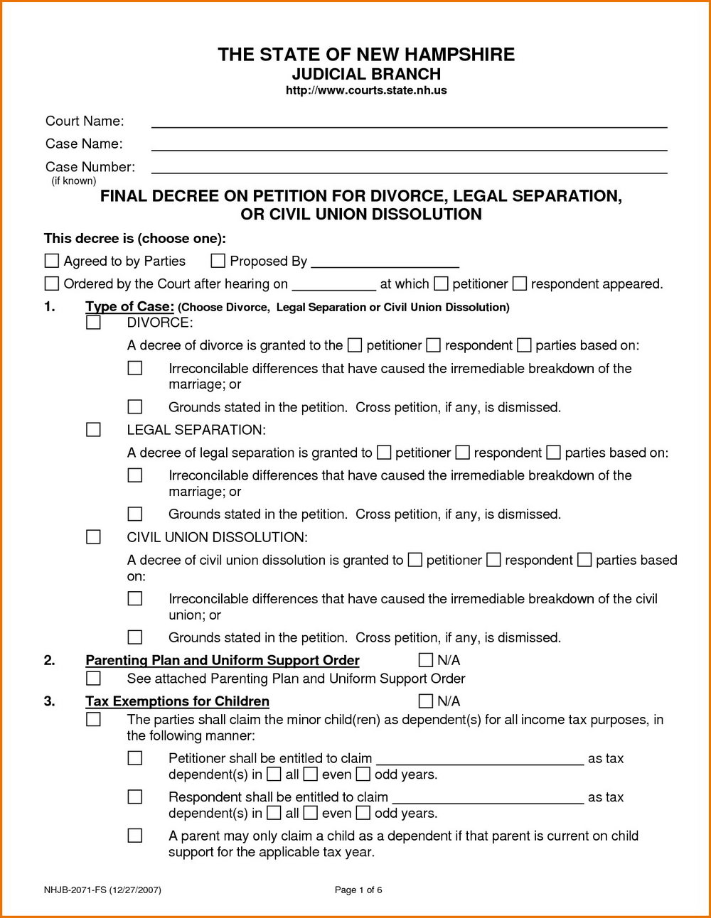 Ct Divorce Forms