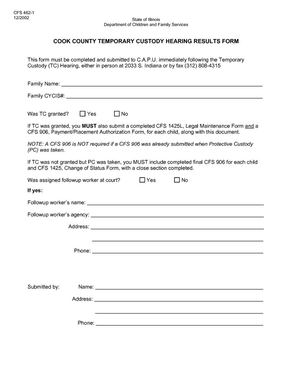 Free Temporary Guardianship Form California