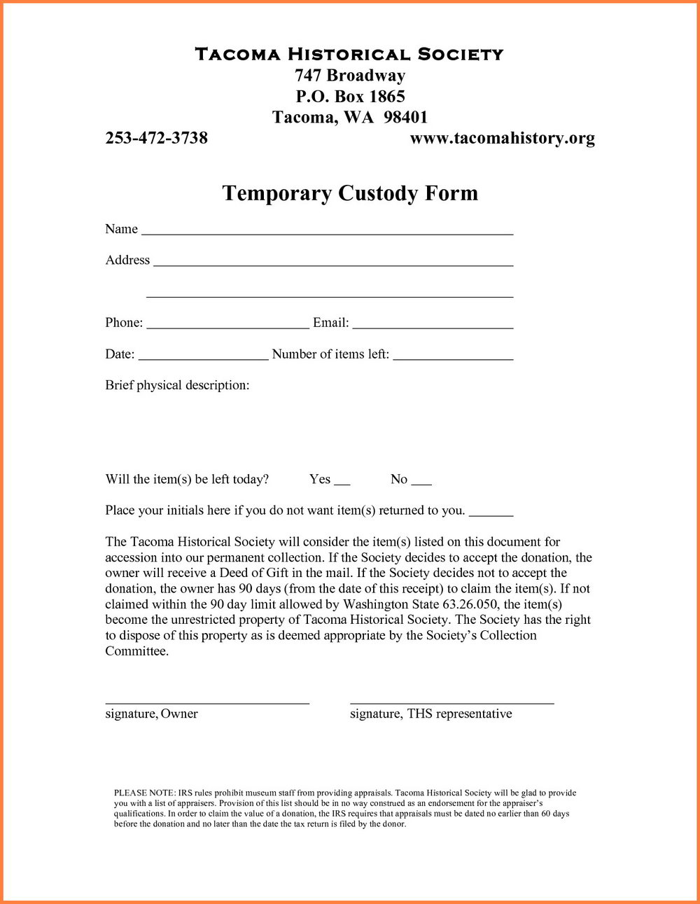 Free Temporary Guardianship Form Texas