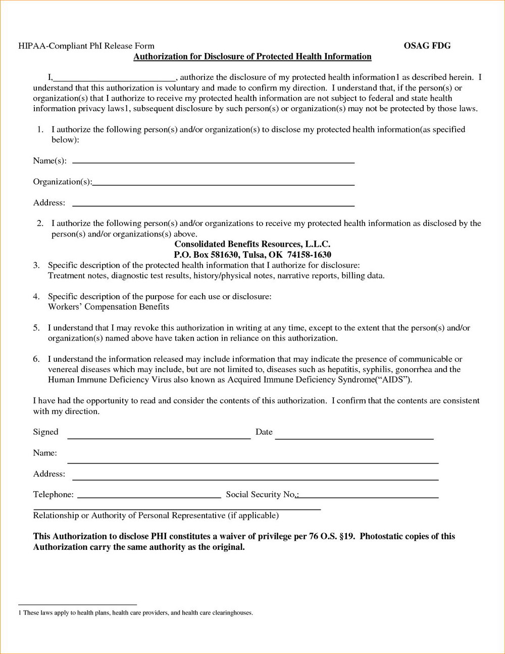 Hipaa Compliance Forms For Business Associates