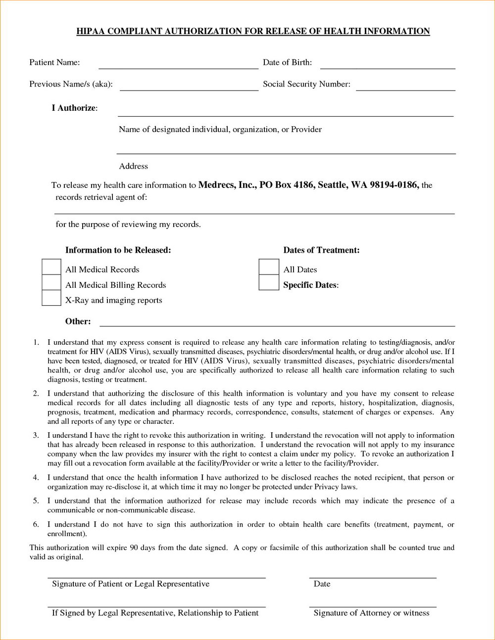 Hipaa Compliance Forms Free Download
