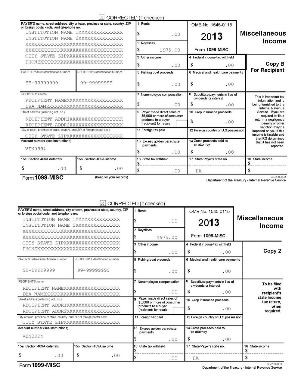 Intuit 1099 Forms