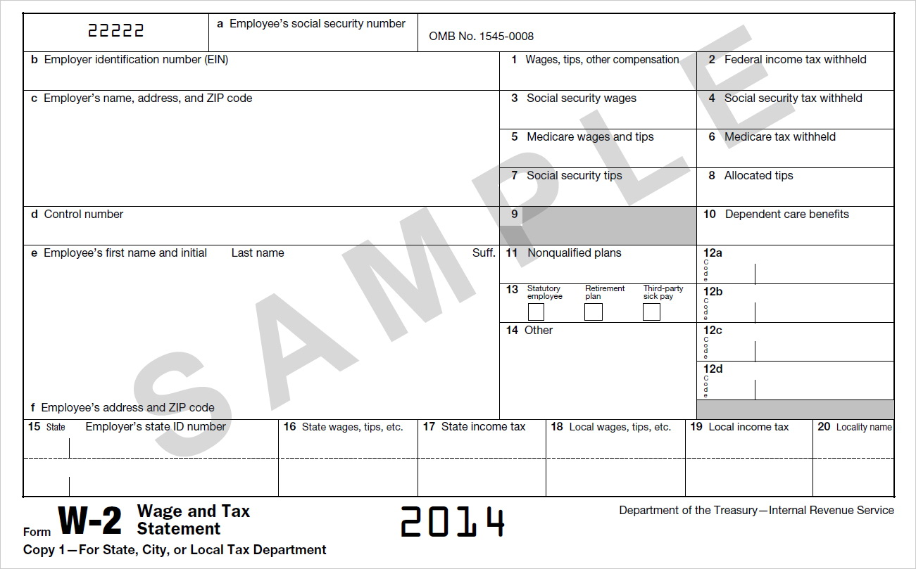 Irs W2 Forms 2017