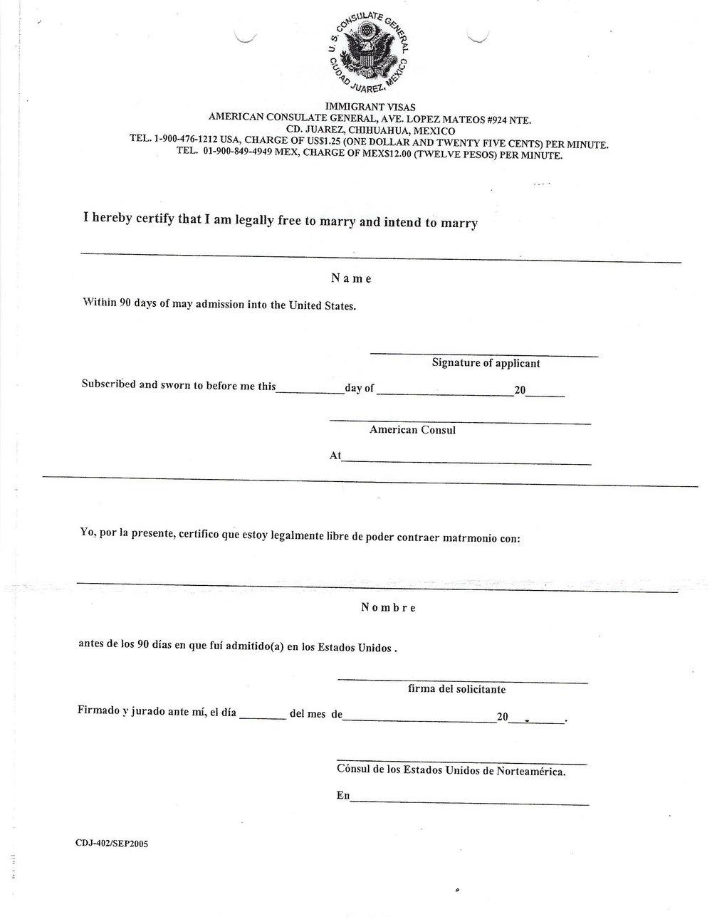 K1 Visa Form I 864