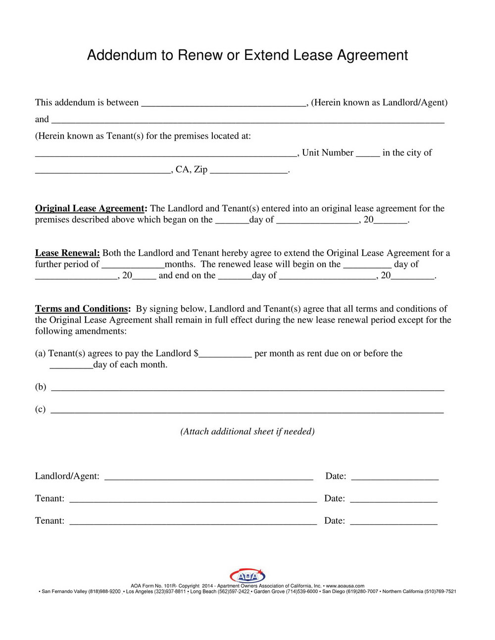 Lease Extension Form Florida