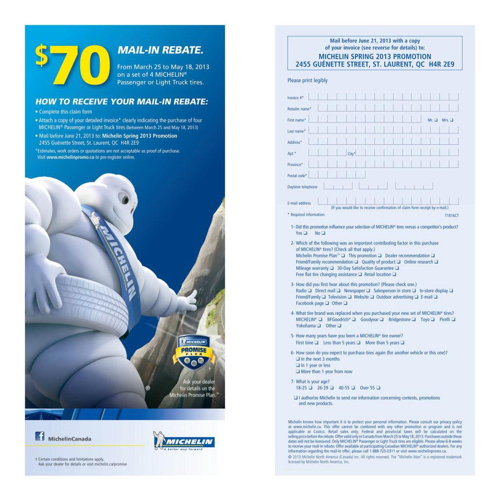 Michelin Rebate Form Pdf 2018