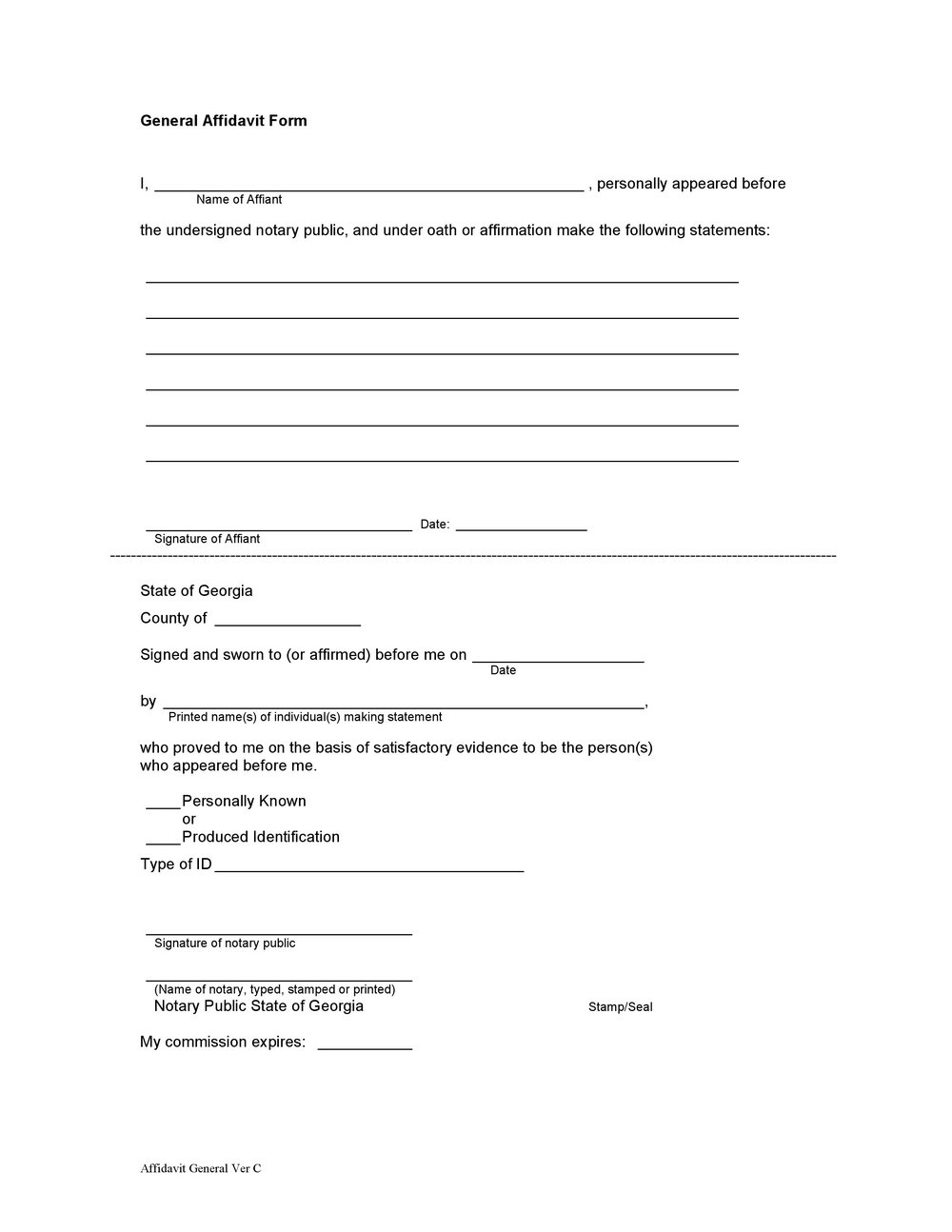 Notary Public Sample Forms