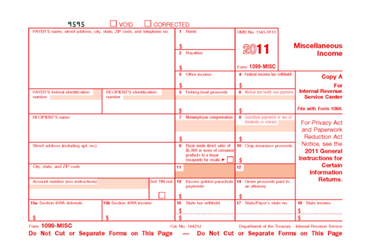 Printable 1099 Forms For Independent Contractors