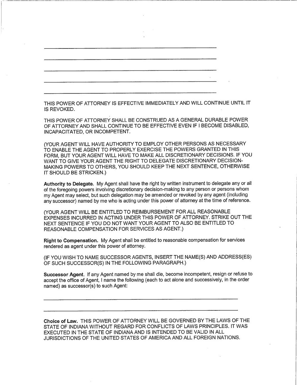 picture regarding Printable Durable Power of Attorney Form Ohio referred to as Printable Strong Electric power Of Lawyer Style Ohio - Styles #5207