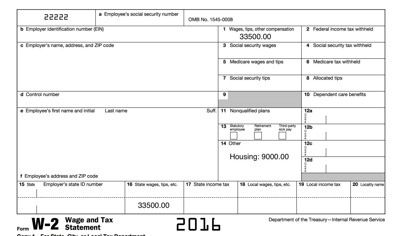Printable W2 Forms 2018