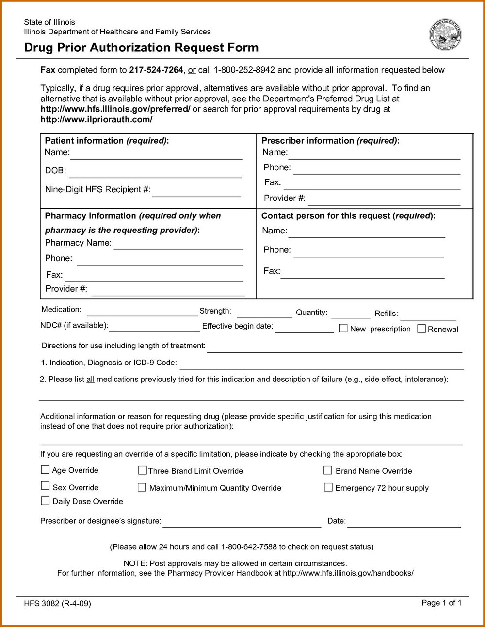 Prior Authorization Form For Medicare Part D