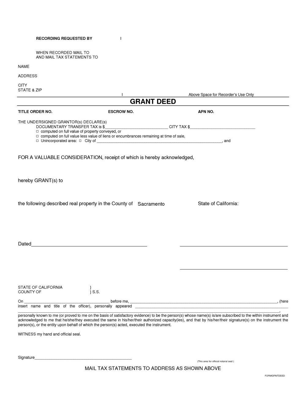 Quit Claim Deed Form Michigan Wayne County