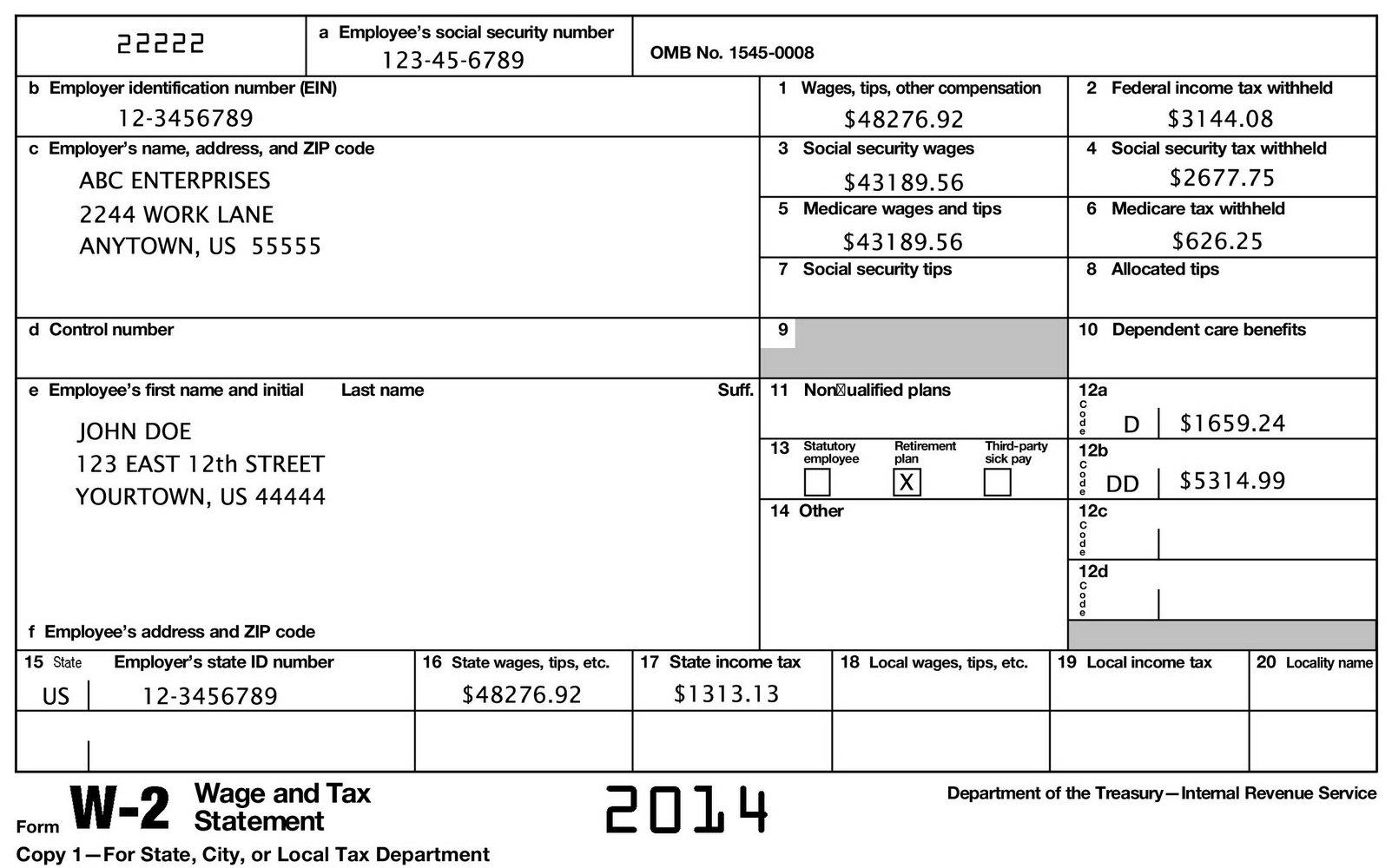 W2 Tax Forms Walmart