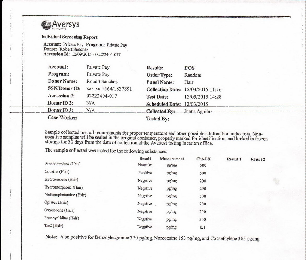 Fake Std Test Results Form