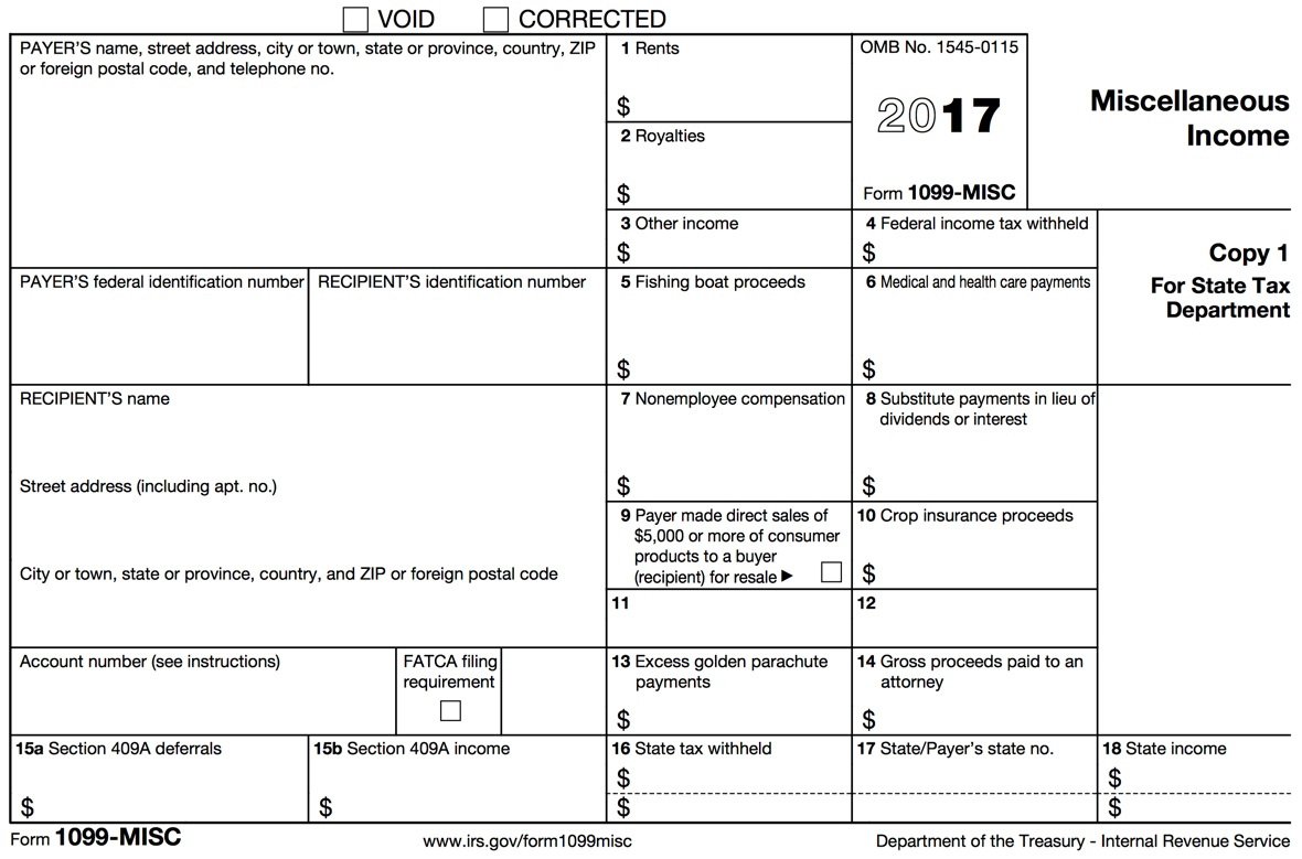 Form 1099 Misc Printable