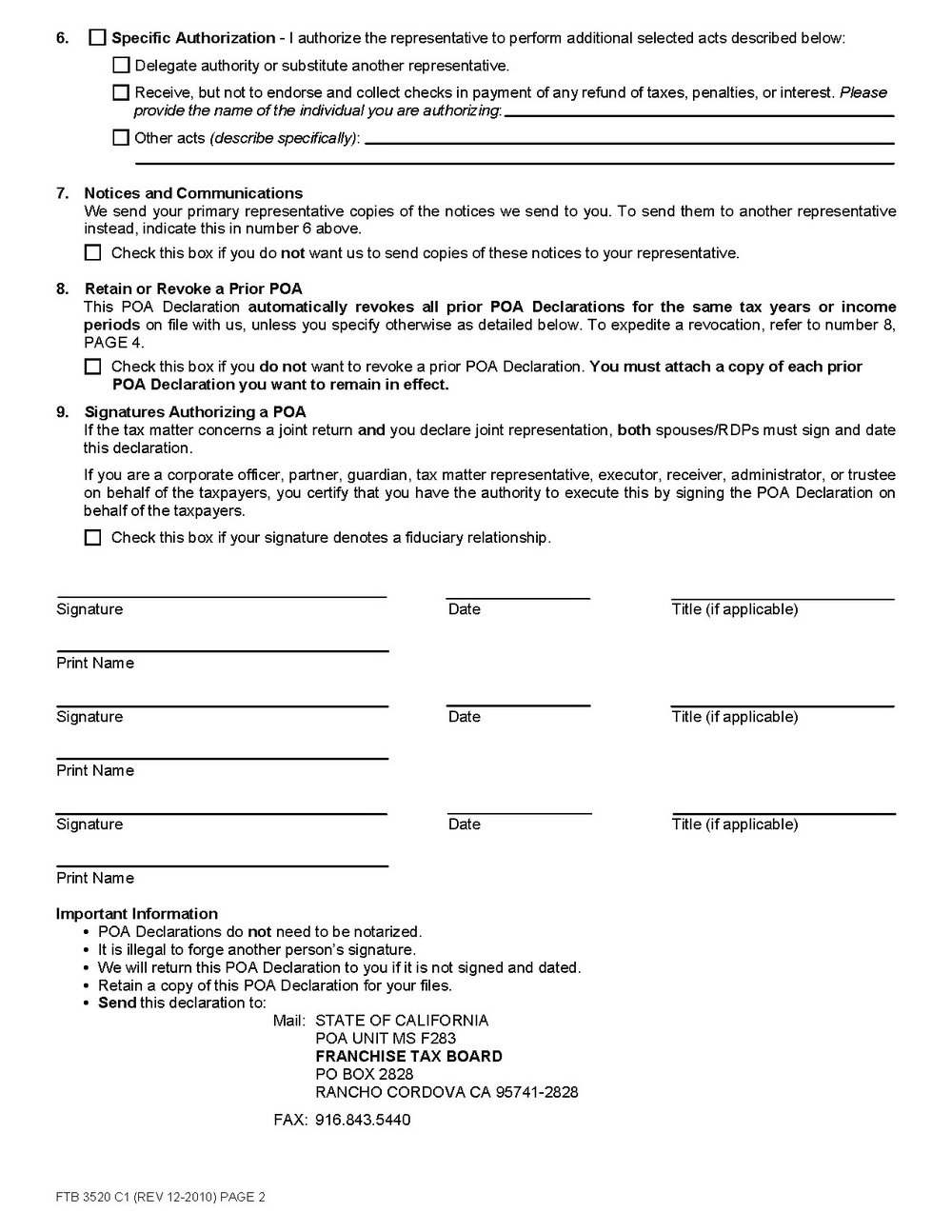 Free Downloadable Durable Power Of Attorney Form
