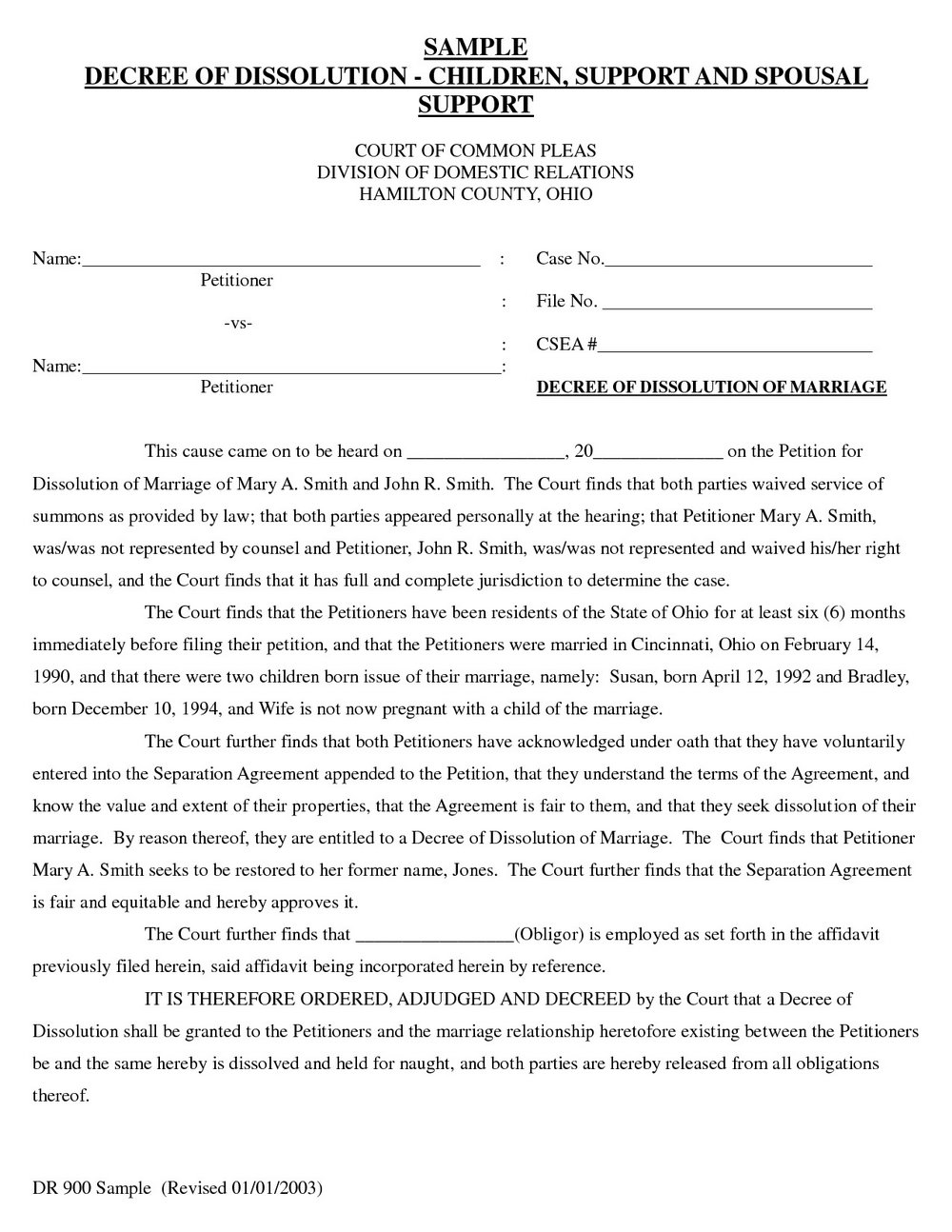 Free Uncontested Divorce Forms Oklahoma