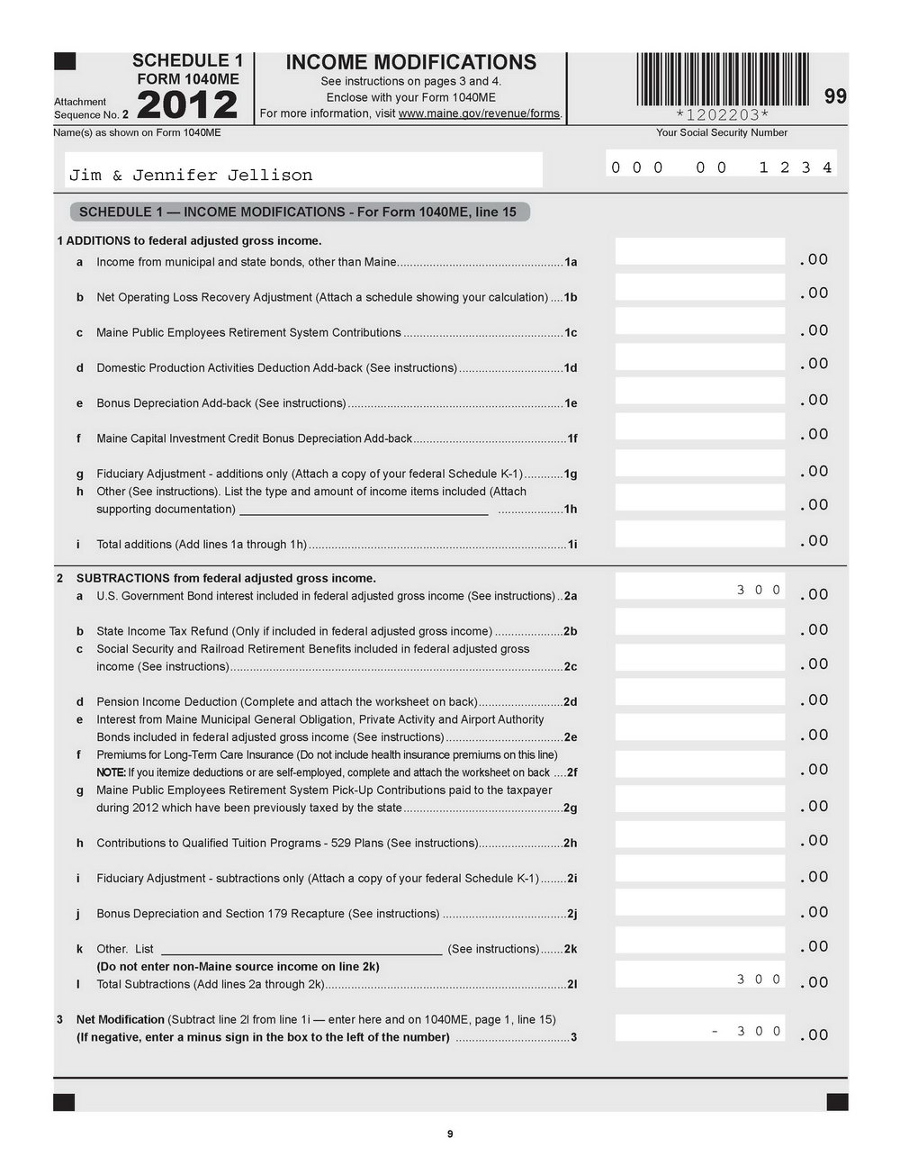 Irs Form 1040a 2014