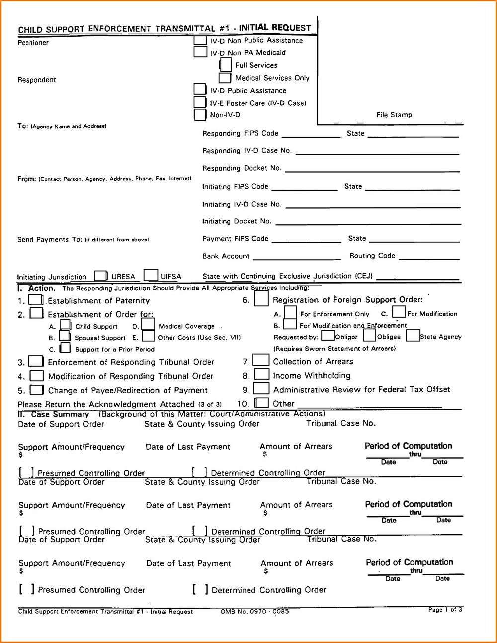 New Jersey Divorce Forms