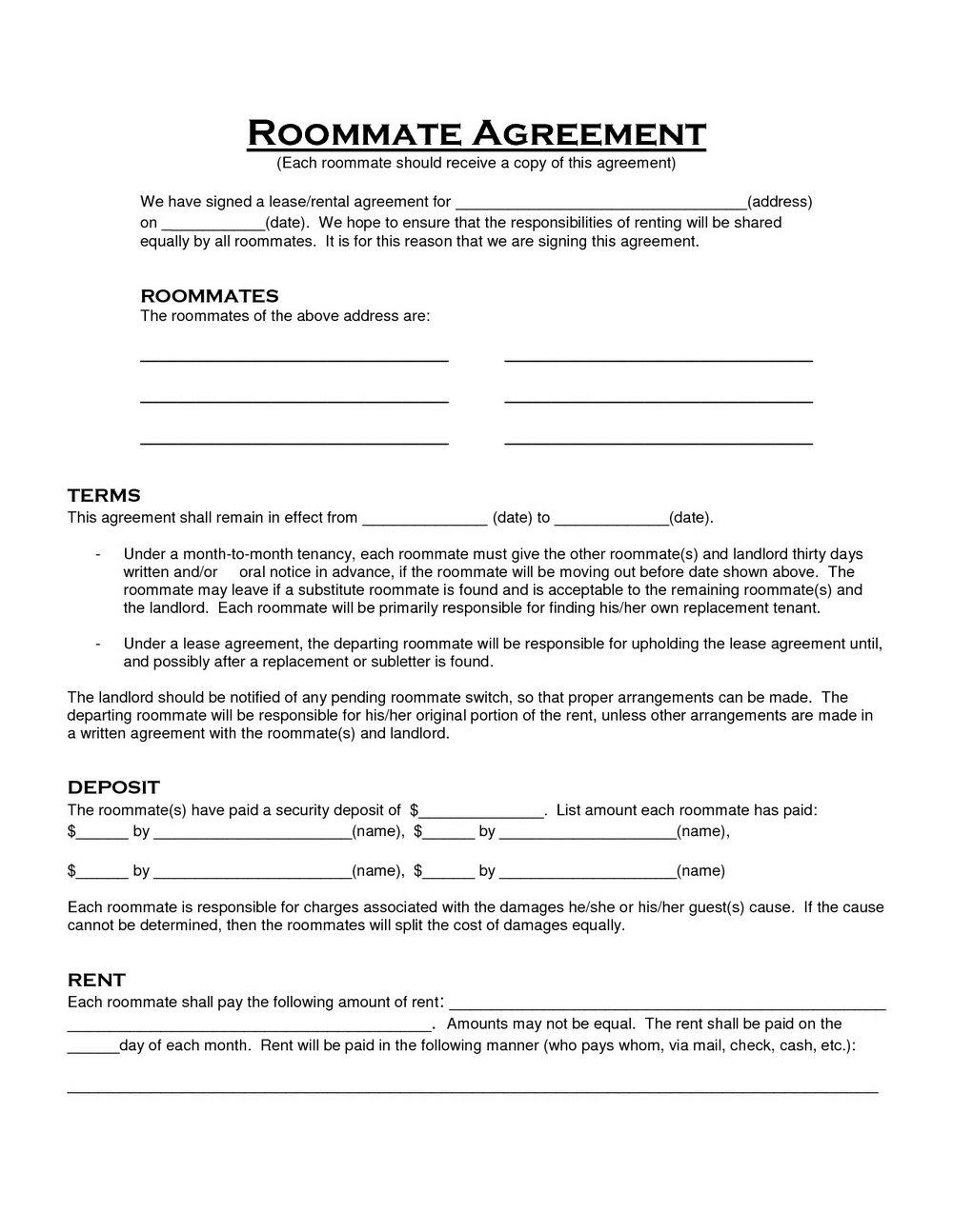 Tool Rental Agreement Form Template Templates 135711