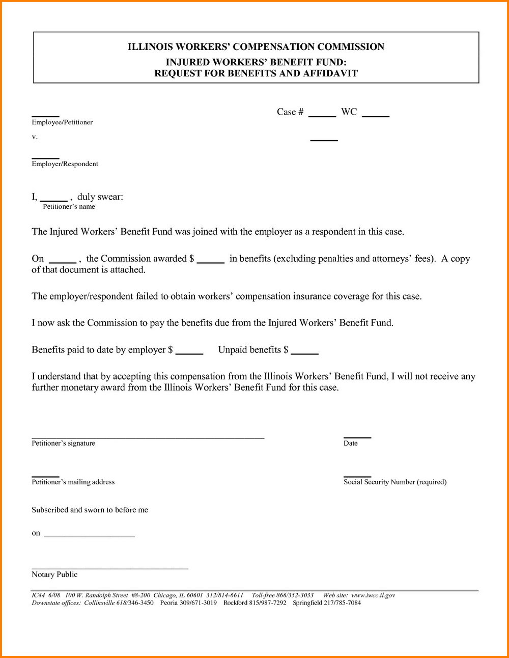 Small Estate Affidavit California Form