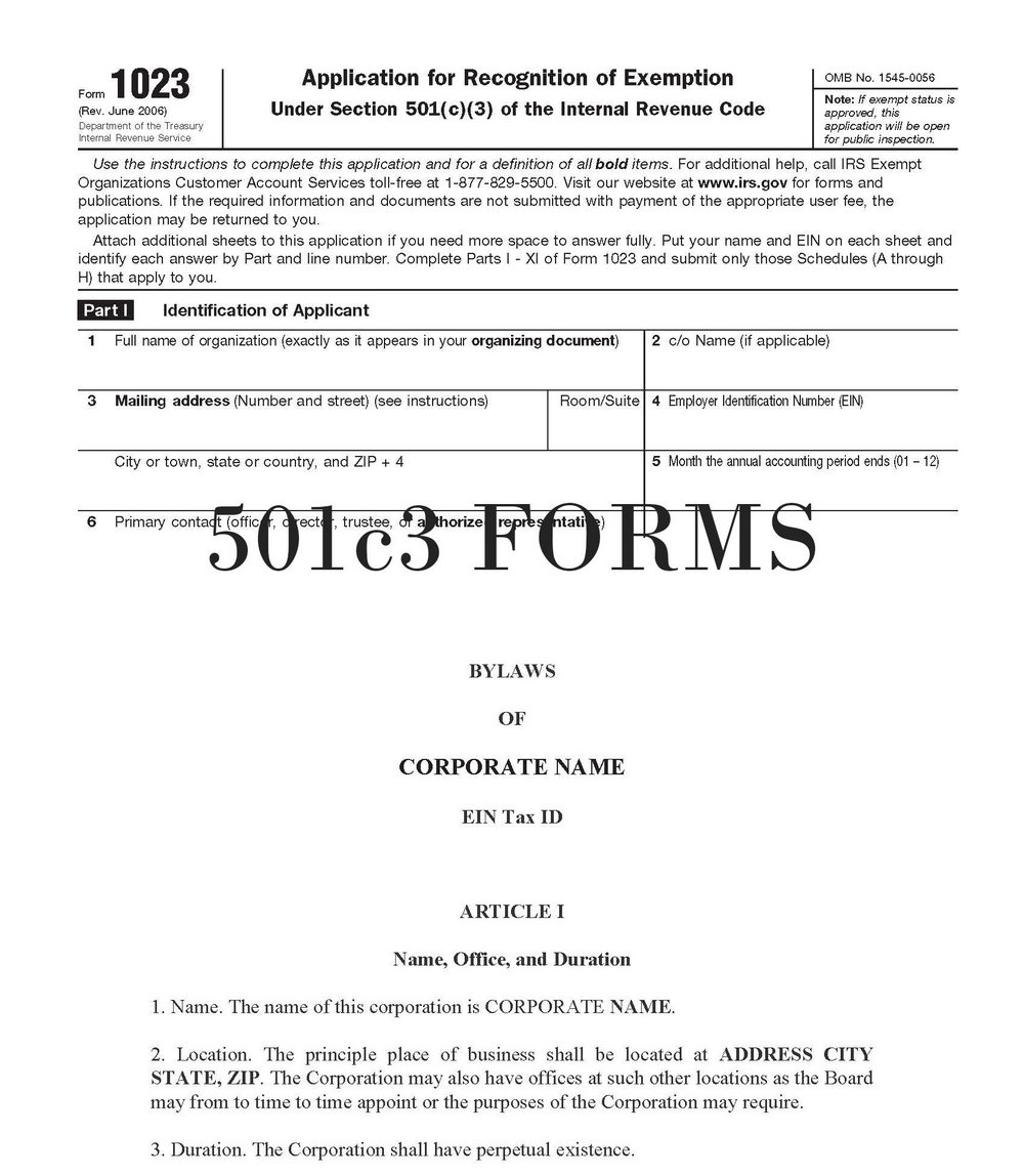 What Is A 501c3 Form