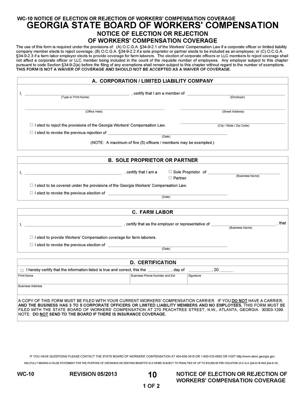Workers Comp Claim Form Nsw