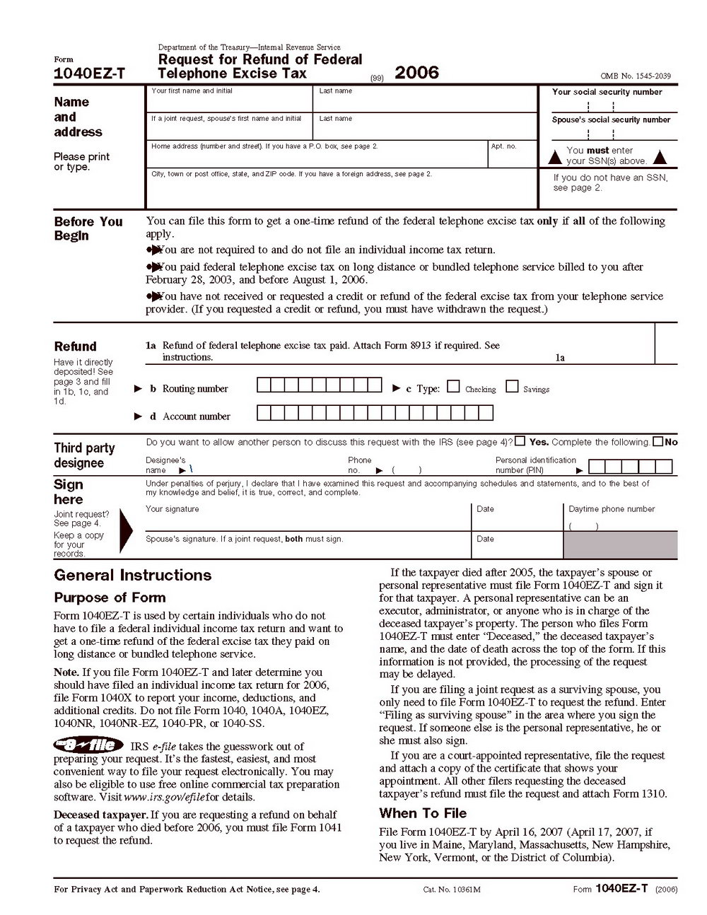 Fed Tax Form 1040a Instructions