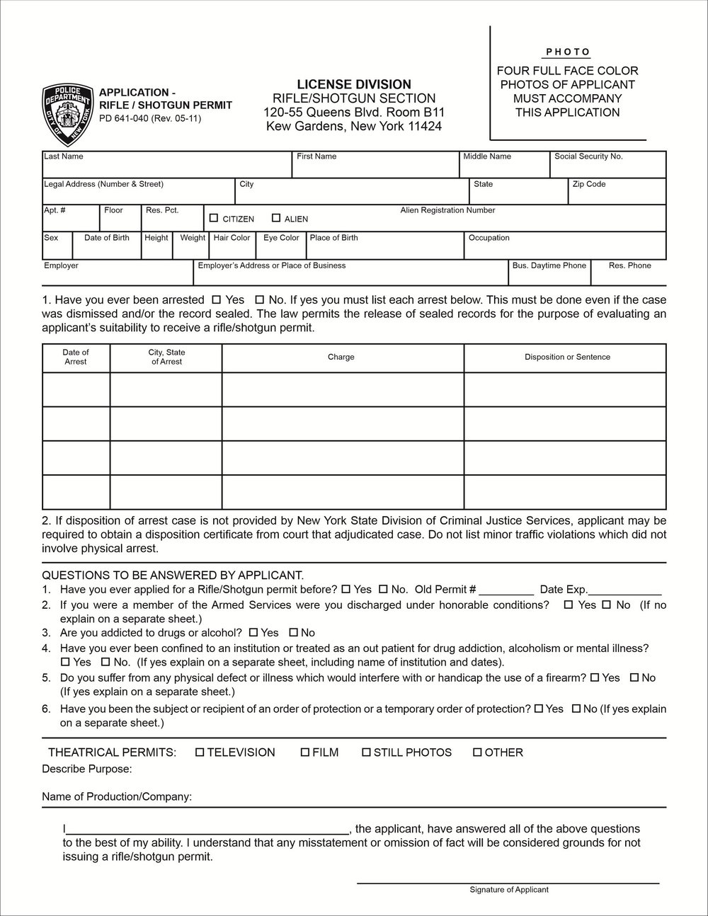Indian Visa Application Form New York