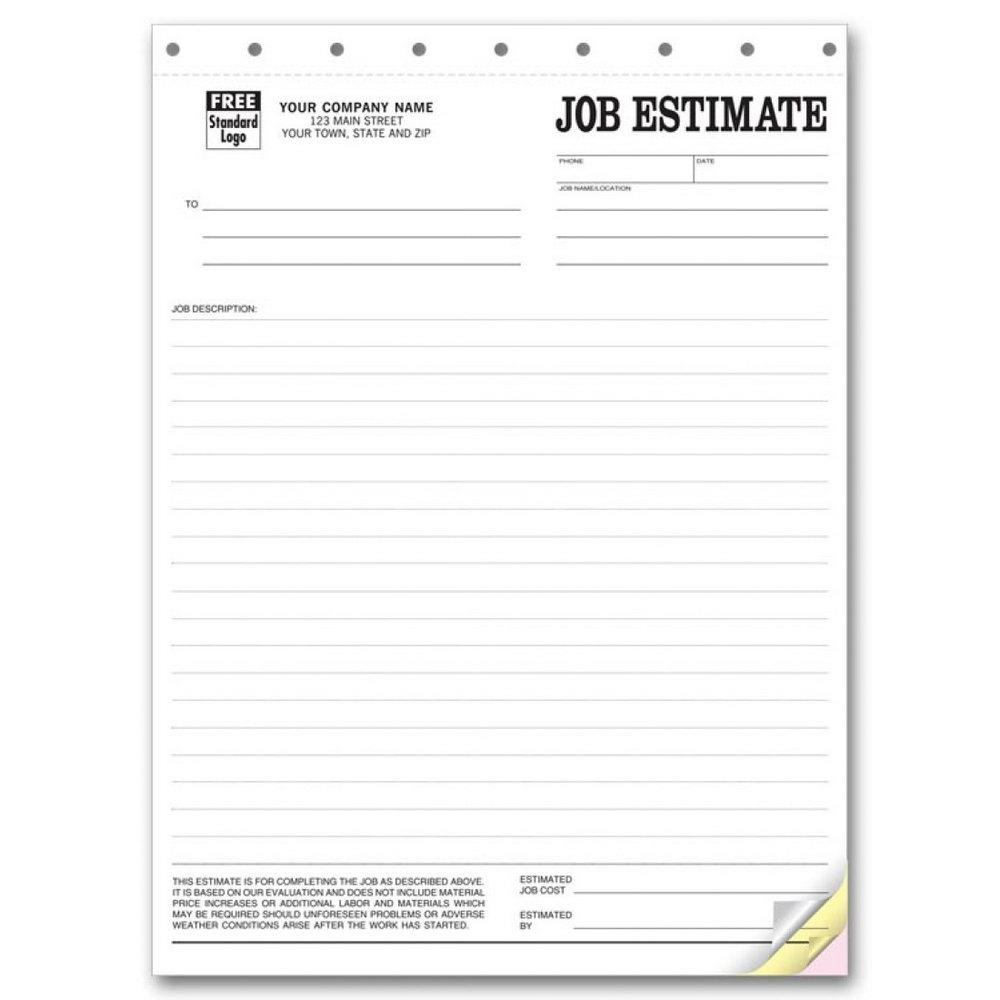 Free Job Estimate Forms To Print