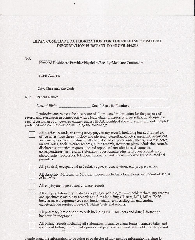 Hipaa Compliance Form In Spanish