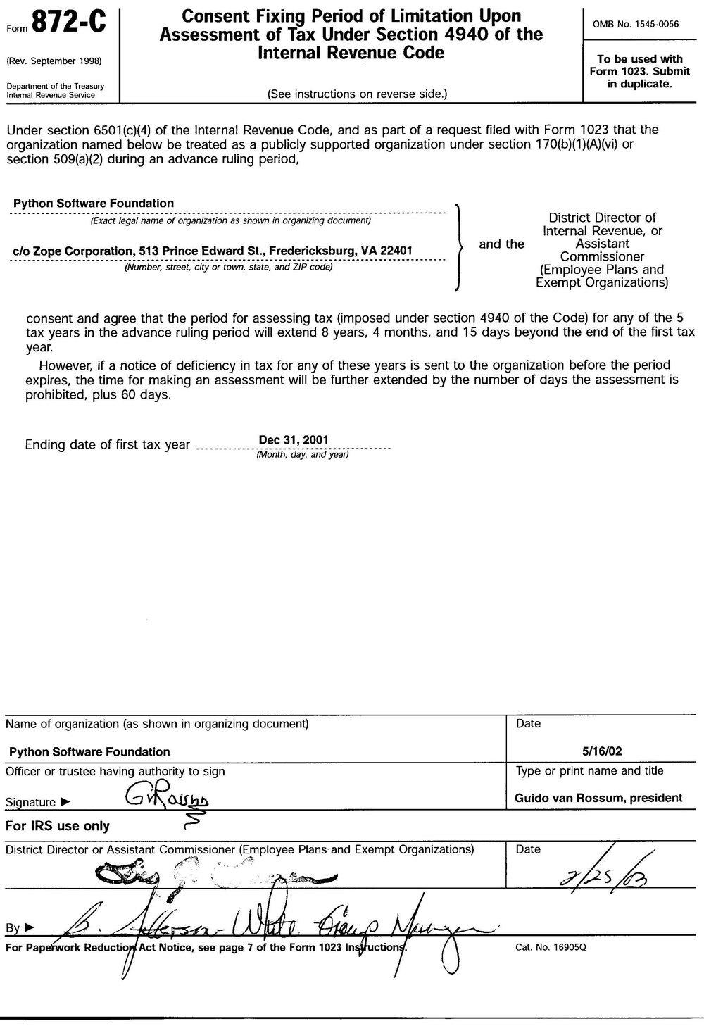Irs Form 501c3