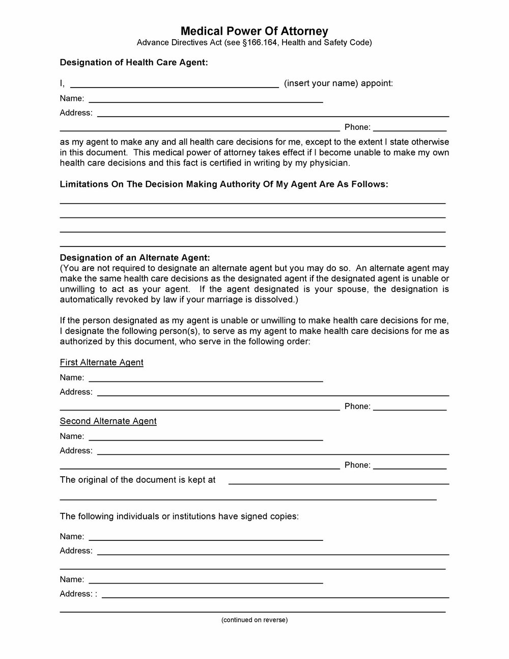 Missouri Power Of Attorney Forms