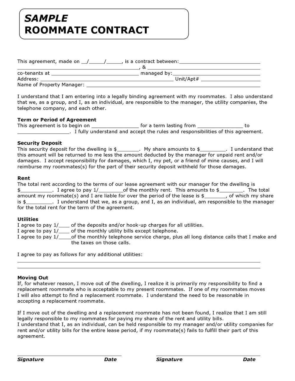 Standard Form Of Store Lease New York 704