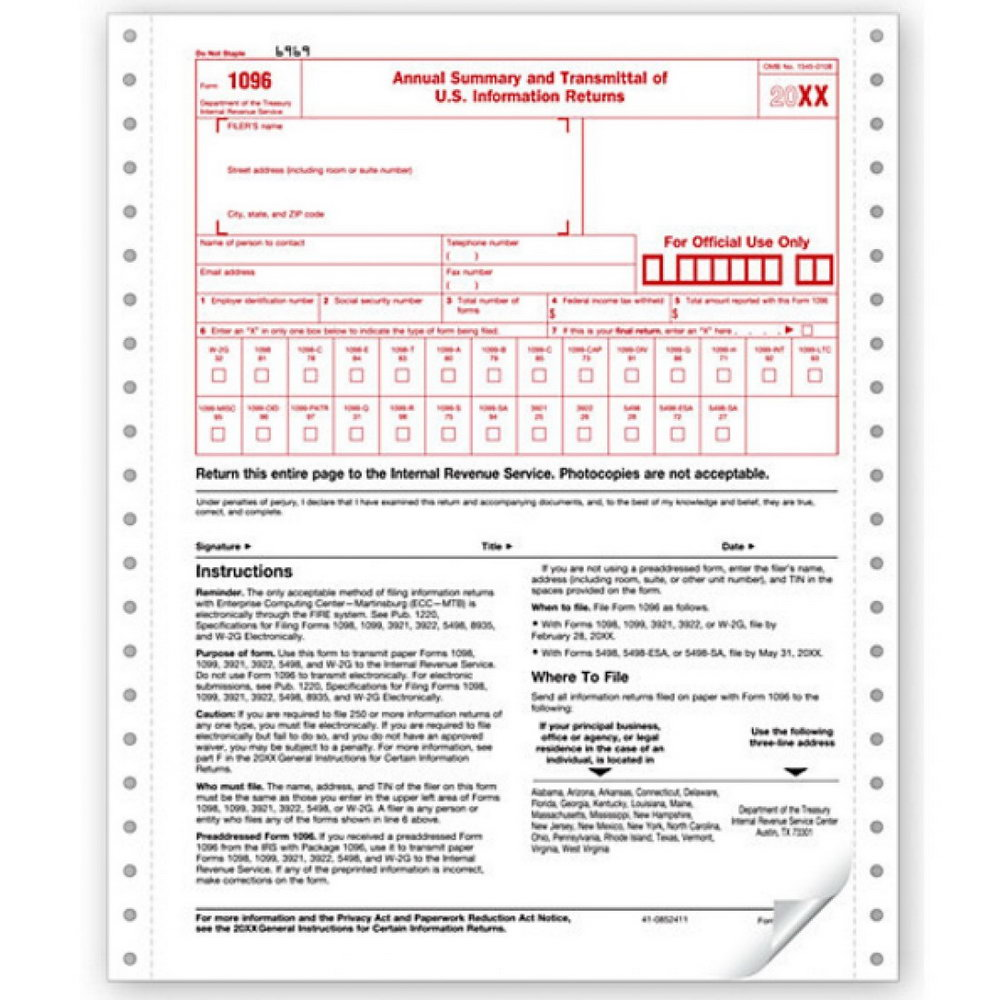 1096 Transmittal Form
