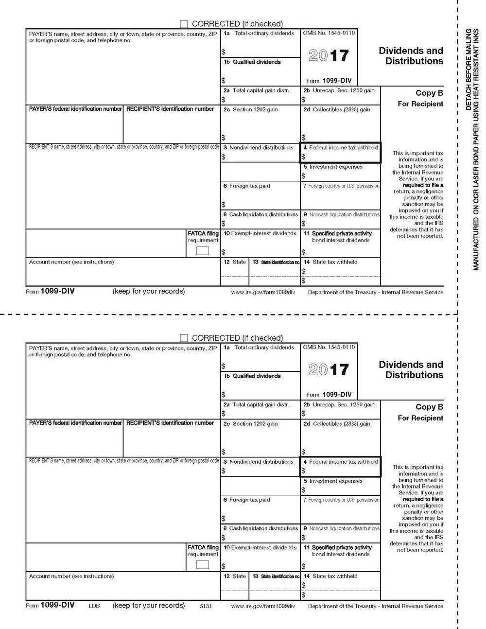 1099 Miscellaneous Form 2017 Pdf