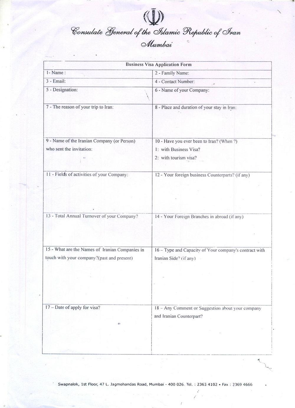 Australian Visa Application Form 1419 Download