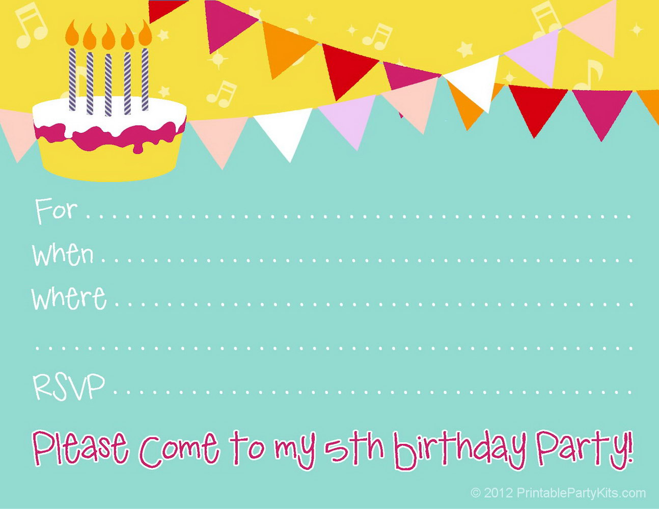 Birthday Invitation Templates For Kids