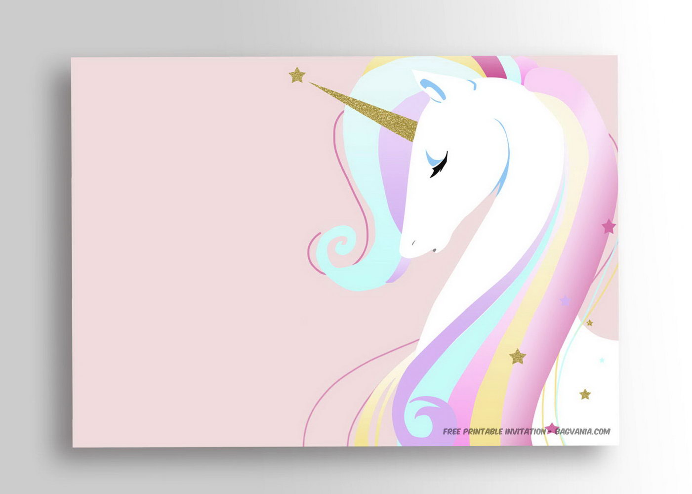 Birthday Invitation Templates Unicorn