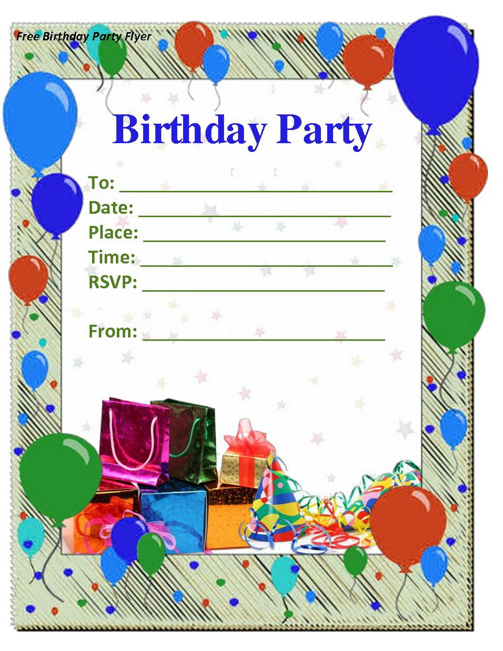 Birthday Party Invitation Template In French