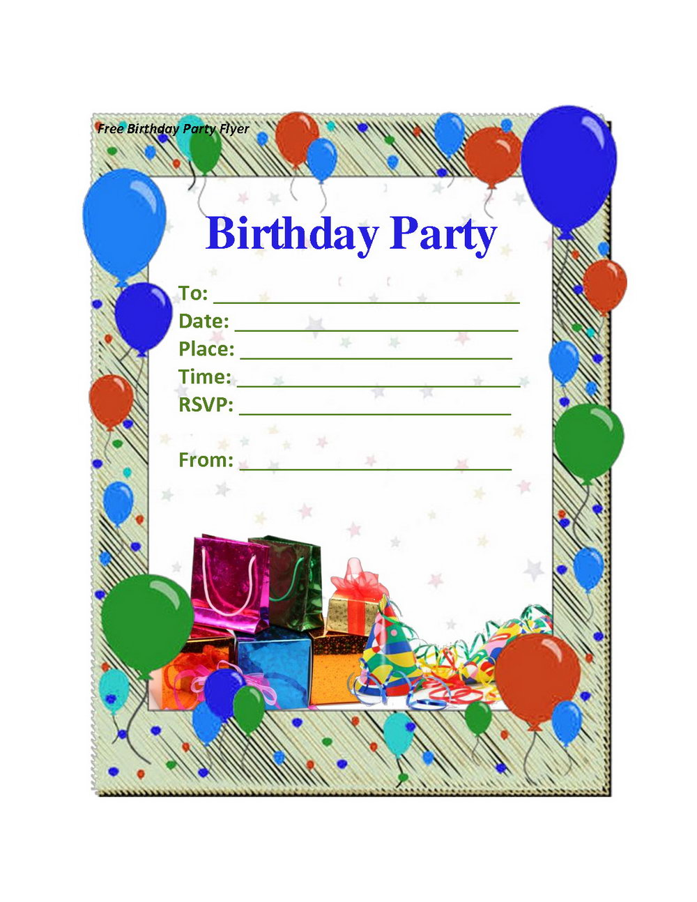 Birthday Party Invitation Template With Photo