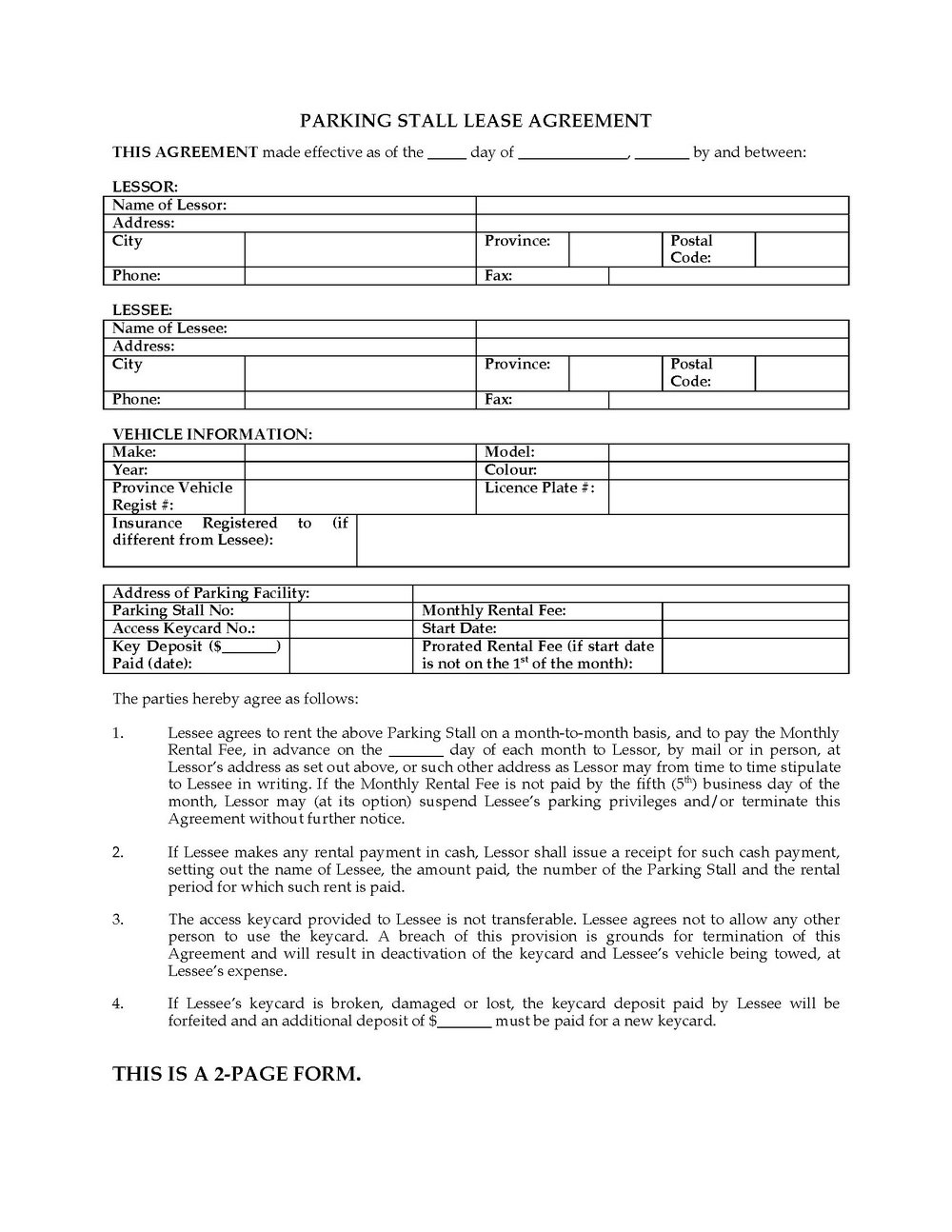 Chicago Residential Lease Form