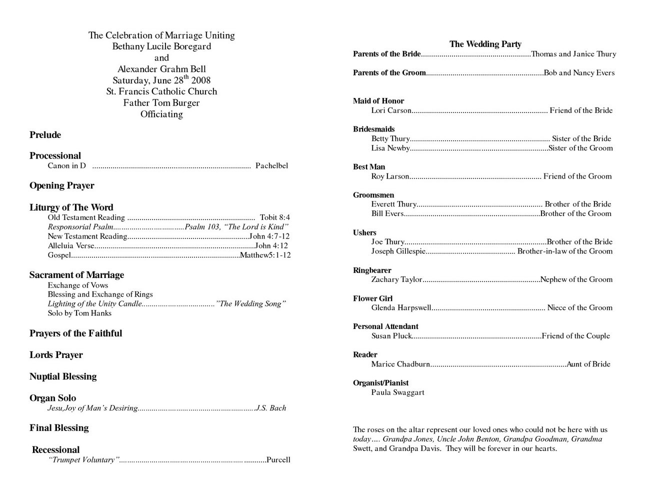 Church Program Template Free