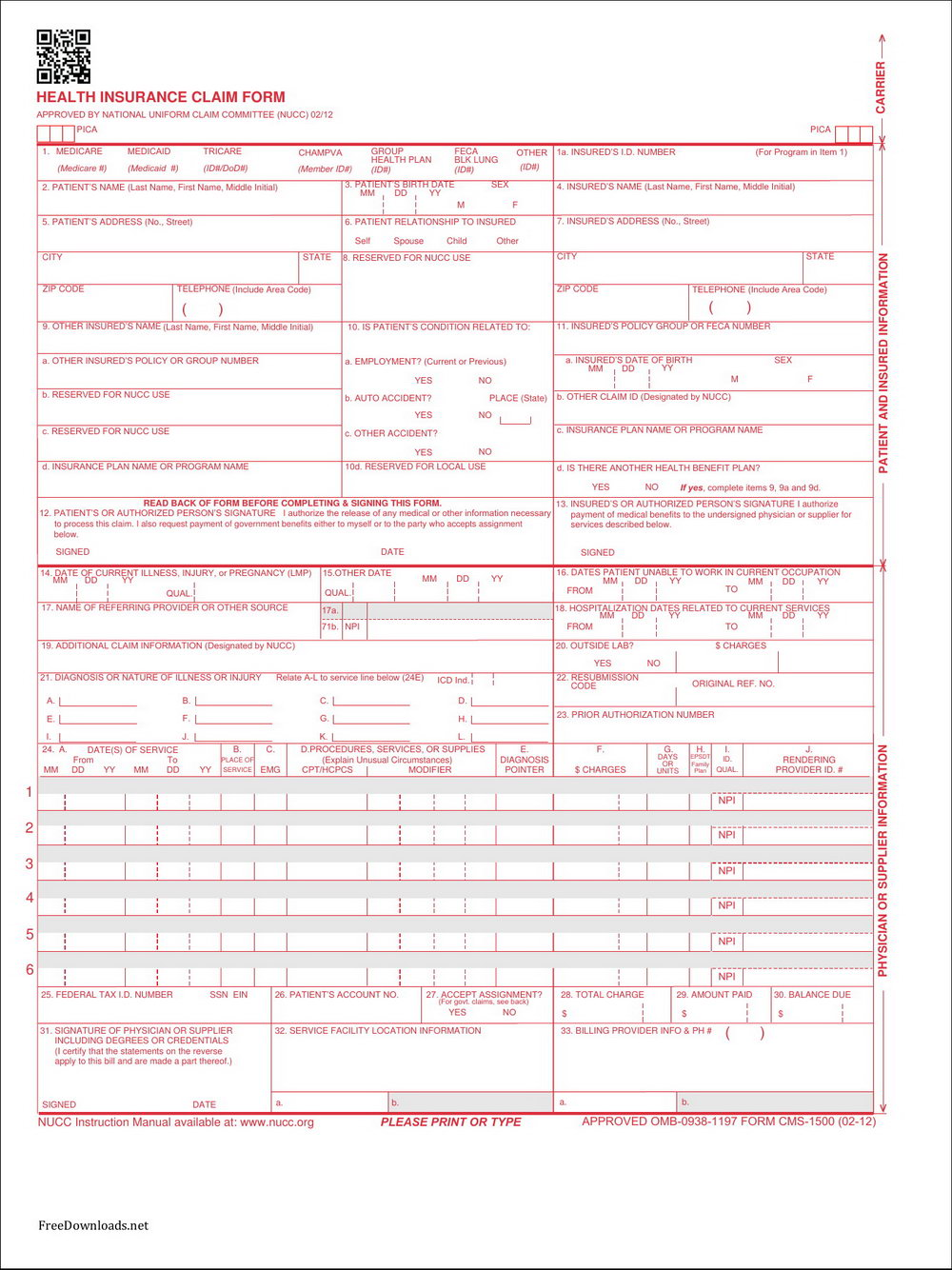 Cms 1500 Form Fillable Software
