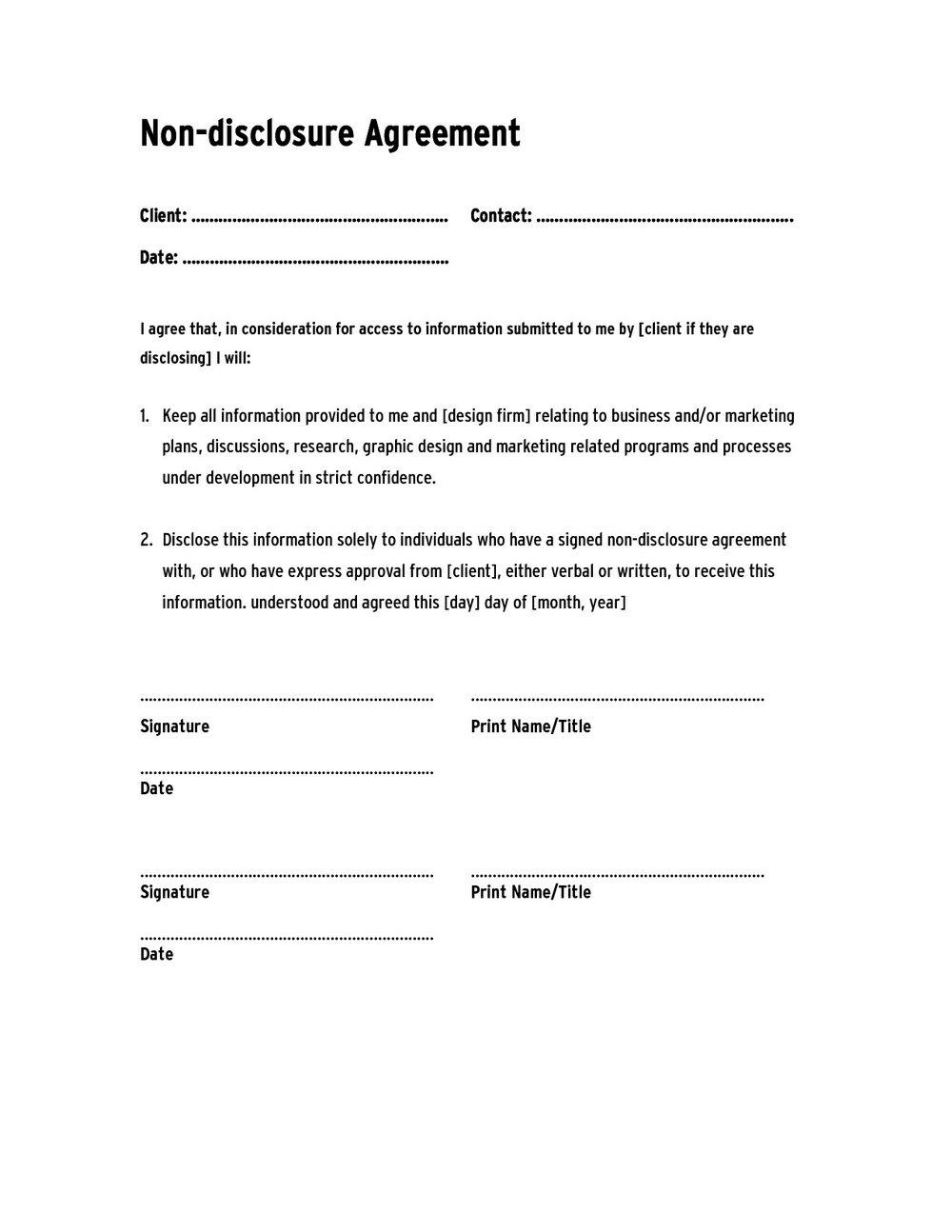 Confidentiality Agreement Template Australia
