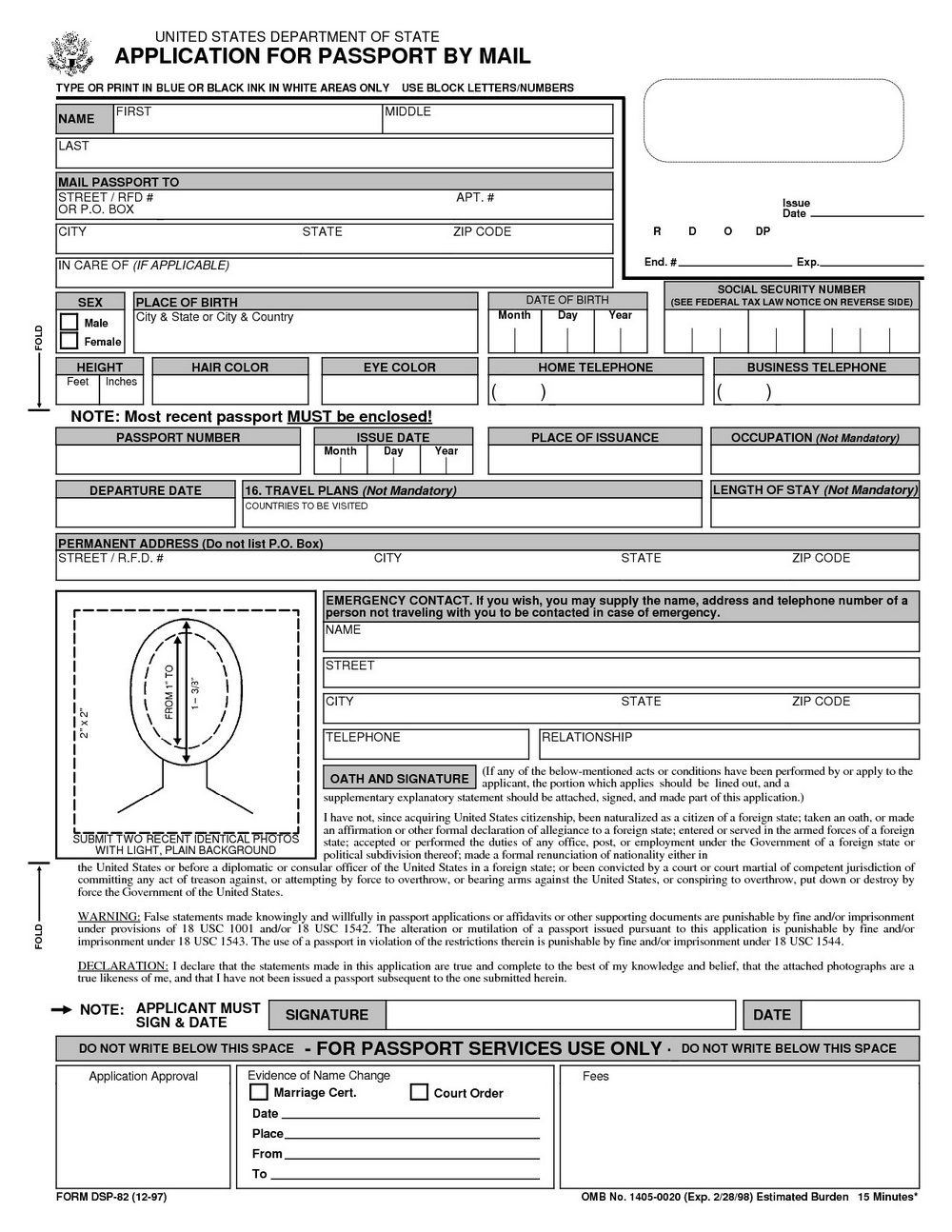 Ds 82 Form Printable