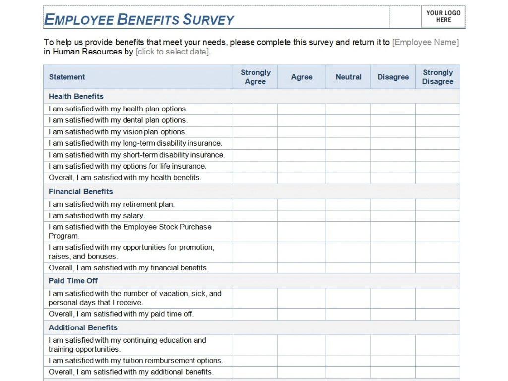Employee Benefits Package Template