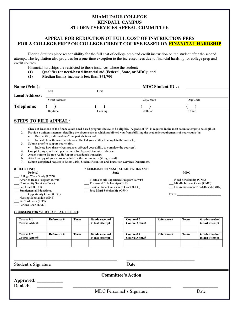Florida Uncontested Divorce Forms