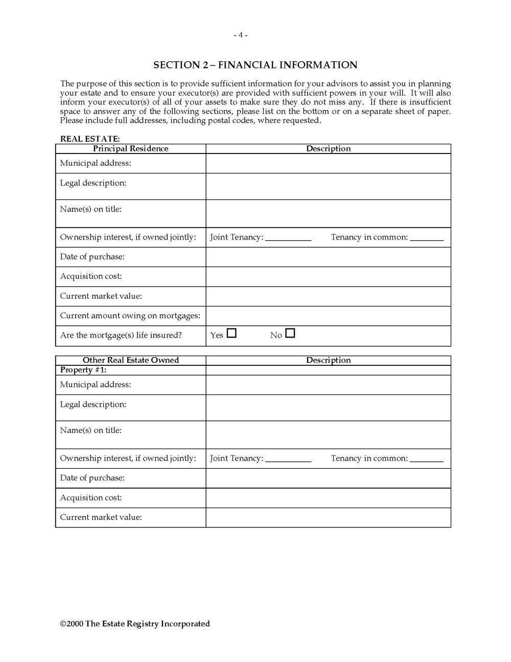 Forms For Wills And Power Of Attorney